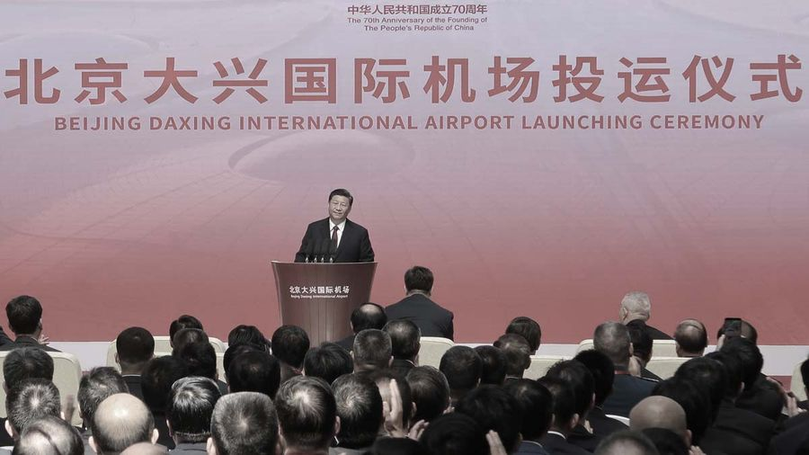 習近平親自宣佈通航 北京大興機場監控或史上最嚴