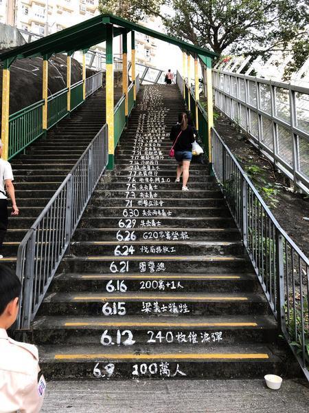 9.28「連儂之路」回顧「佔中」重要地段有警察盤查