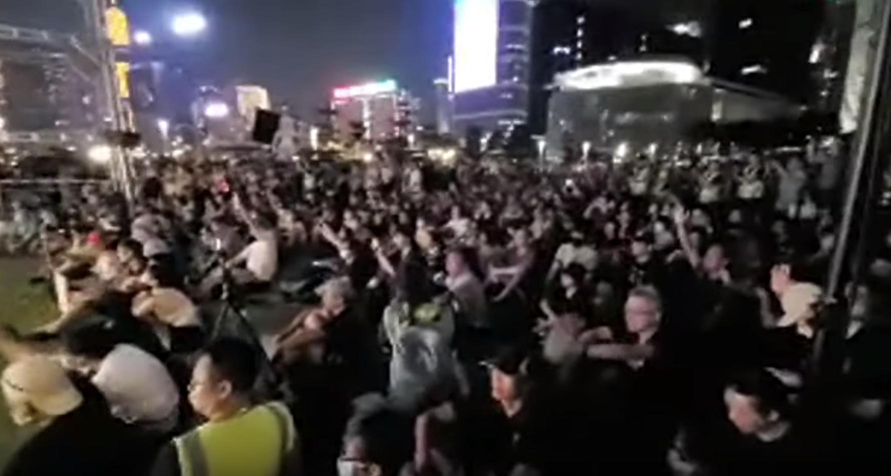 28日,民陣發起在金鐘添馬公園將舉行紀念「雨傘運動」5周年的活動。(視頻截圖)