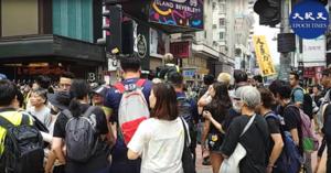 【9.29反極權】沒有人退縮 銅鑼灣自發集會籲國際對香港SOS緊急人道救援