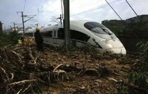 南京南動車所塌方 24高鐵班次延誤