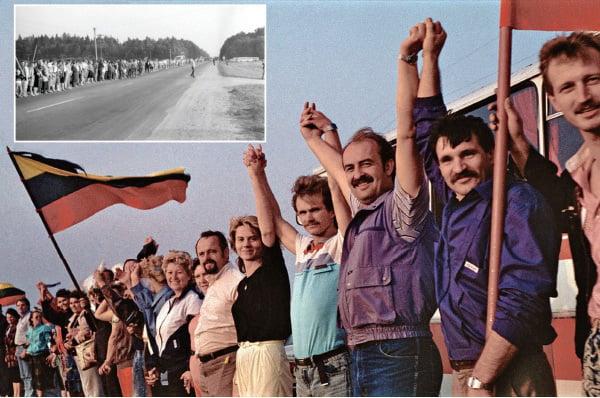 立陶宛參與波羅的海之路的示威人群。(維基百科)