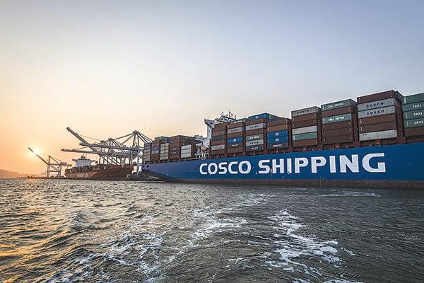 因違法運送伊朗原油被美國制裁,中國國企中遠海運(Cosco)的子公司周四宣佈停牌,料所屬的44 艘超大型油輪業務受影響。(Getty Images)