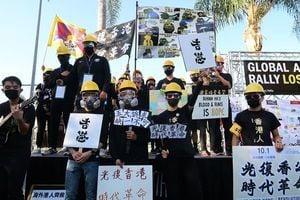 【9.29反極權】全球撐港 洛杉磯逾千人為中共「送終」