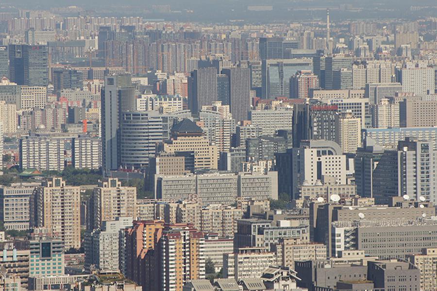 圖為北京市樓房。(大紀元資料室)