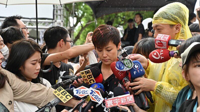 香港歌手何韻詩遭潑漆 警方逮9名共犯