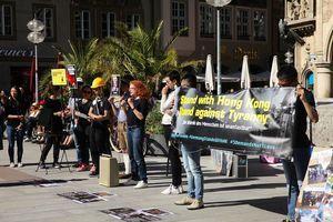 【9.29反極權】慕尼黑集會撐港 德議員現場支持