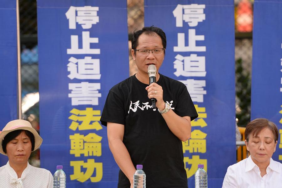 香港支聯會副主席蔡耀昌表示,過去幾個月香港人權日益惡化,佐證法輪功在大陸所遭受的殘酷迫害,「很有可能在香港出現」。(宋碧龍/大紀元)