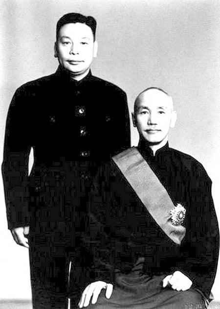 中華民國前總統蔣中正與蔣經國在台灣積極肅清共諜,保住台灣人民不被中共赤化。(網絡圖片)