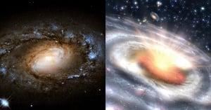 平靜星系突然爆發變成類星體