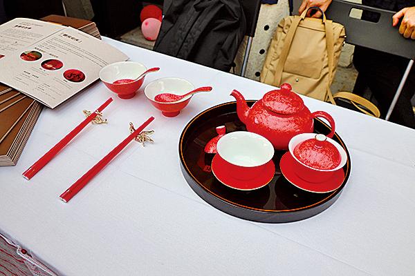 婚嫁禮儀用的高級茶具。