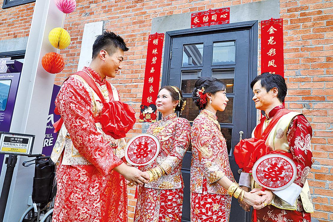 近日饒宗頤文化館聯同香港中華禮儀振興會在富有歷史文化氣息的建築群內舉辦集體婚禮。