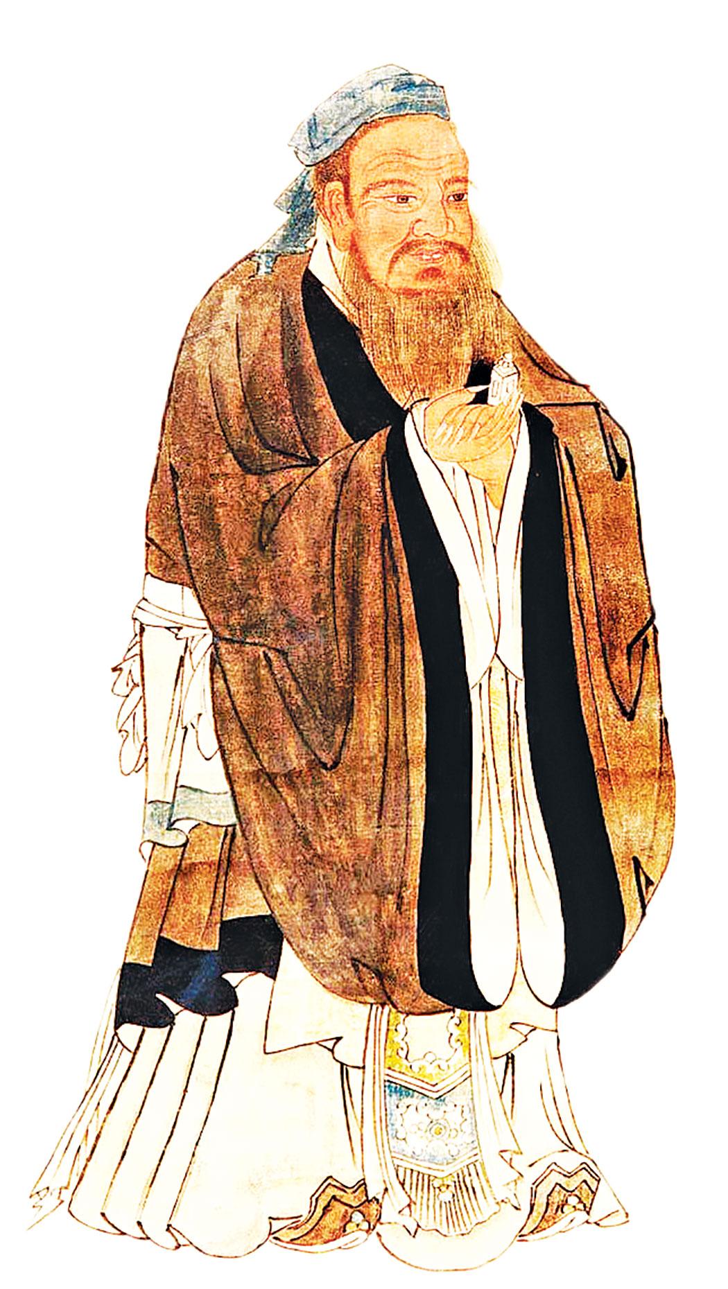 儒生在秦國擁有很高的地位,他們掌典籍、制禮樂、備諮詢。圖為儒家創始人孔子畫像。(公有領域)