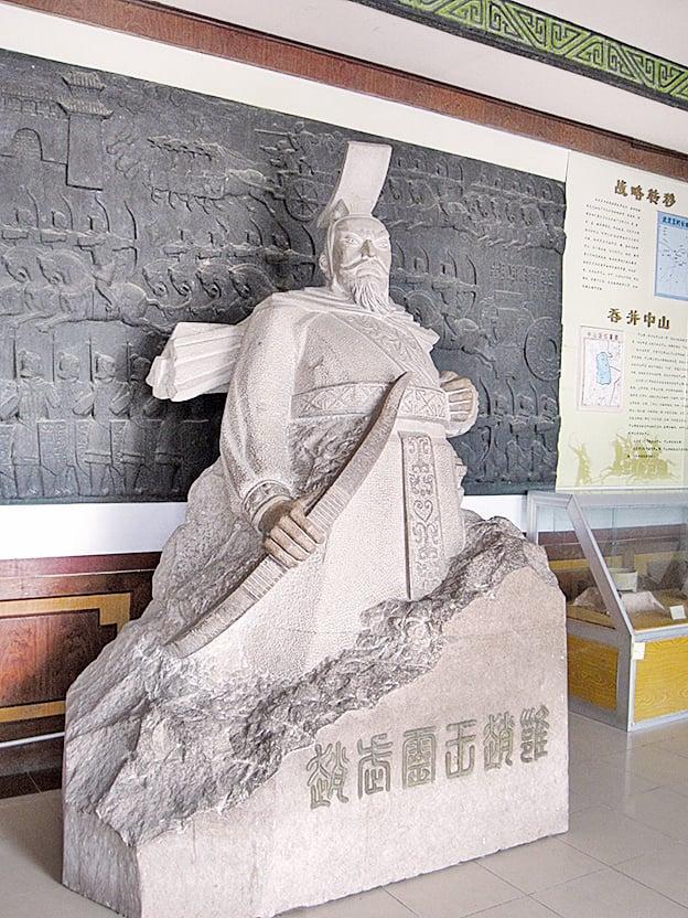 趙武靈王塑像。(我乃野雲鶴/Wikimedia Commons)