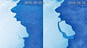 南極洲冰山脫離冰架 與氣候暖化無關