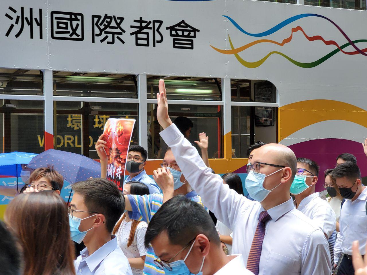 4日,香港政府將會舉行特別會議欲實行《緊急法》、《禁蒙面法》,4日下午民間發起「反緊急法遊行」。(孫明國/大紀元)