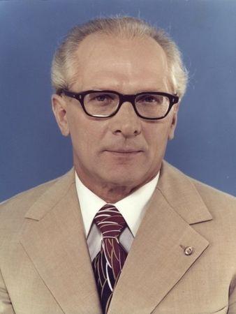 1976年的東德統一社會黨總書記何內克。(公有領域)
