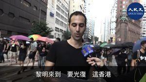 意大利男高音唱粵語版〈願榮光歸香港〉