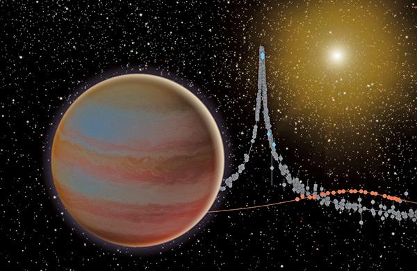 褐矮星圍繞恆星運轉的藝術想像圖。(NASA)