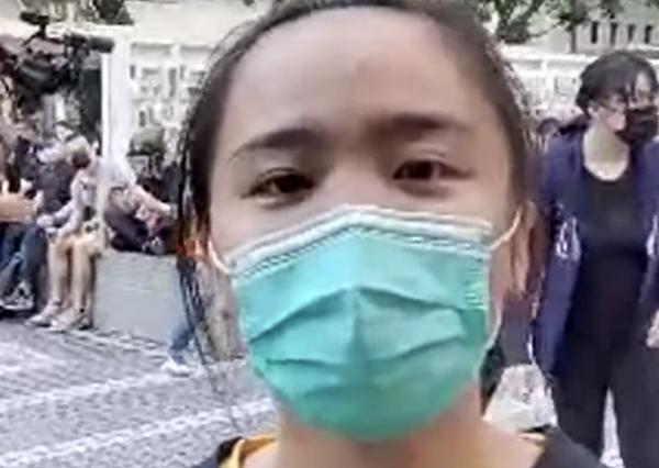 「大家都是同一個心態,就是光復香港、時代革命。」葉姓女學生語氣堅定地說道。(駱亞 / 大紀元)