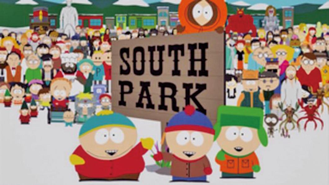 著名美國成人動畫情景喜劇劇集《南方公園》(SOUTH PARK)的最新影片《中國樂隊》(Band in China)劇情涉及中共的多個敏感話題。圖為標題畫面。(維基百科)