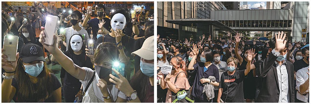 香港特首林鄭月娥10月4日宣佈,啟動《緊急法》所賦予的權限,制訂《禁止蒙面規例》,不僅令香港民眾更加憤怒,也引發全球各界的譴責和擔憂。(Getty Images)