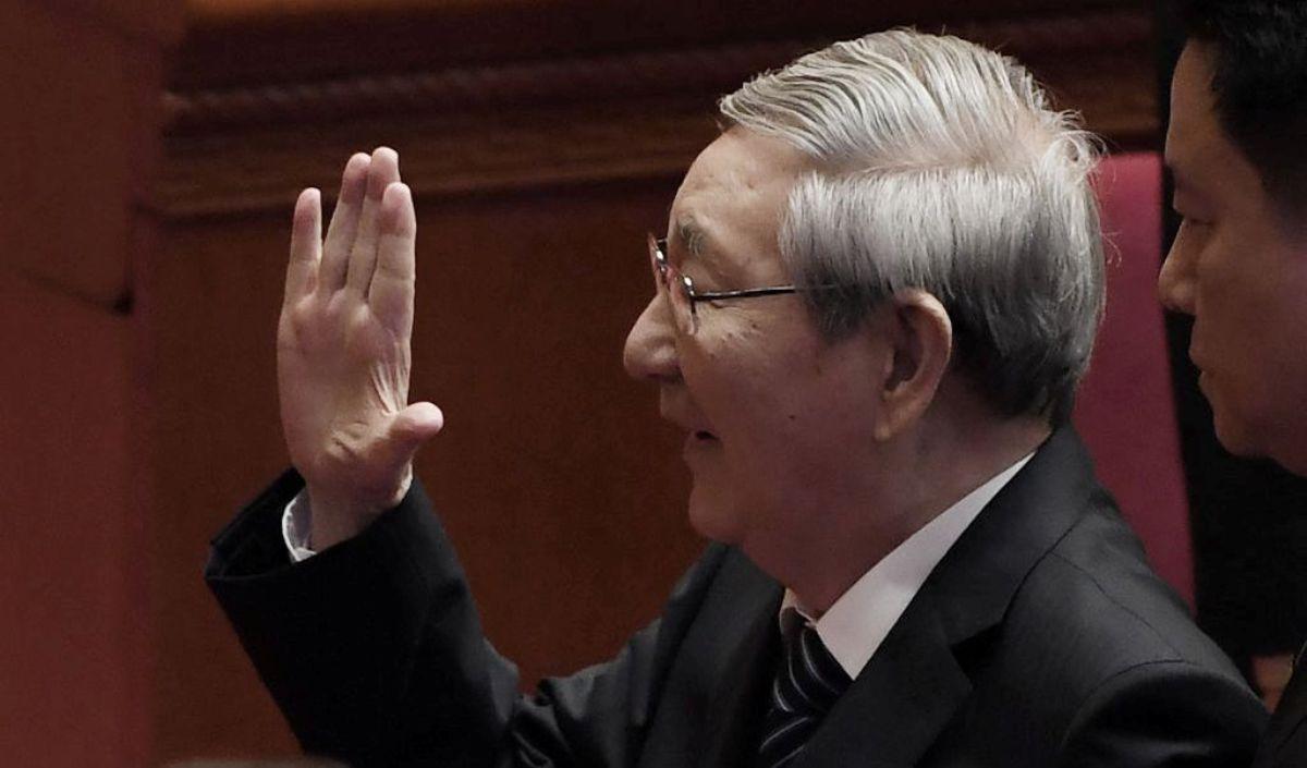有媒體說,朱鎔基「中共罪人論」熱傳,這大可推斷為中共權鬥,已經開始利用香港反送中運動作為另一戰線。(GREG BAKER/AFP/Getty Images)