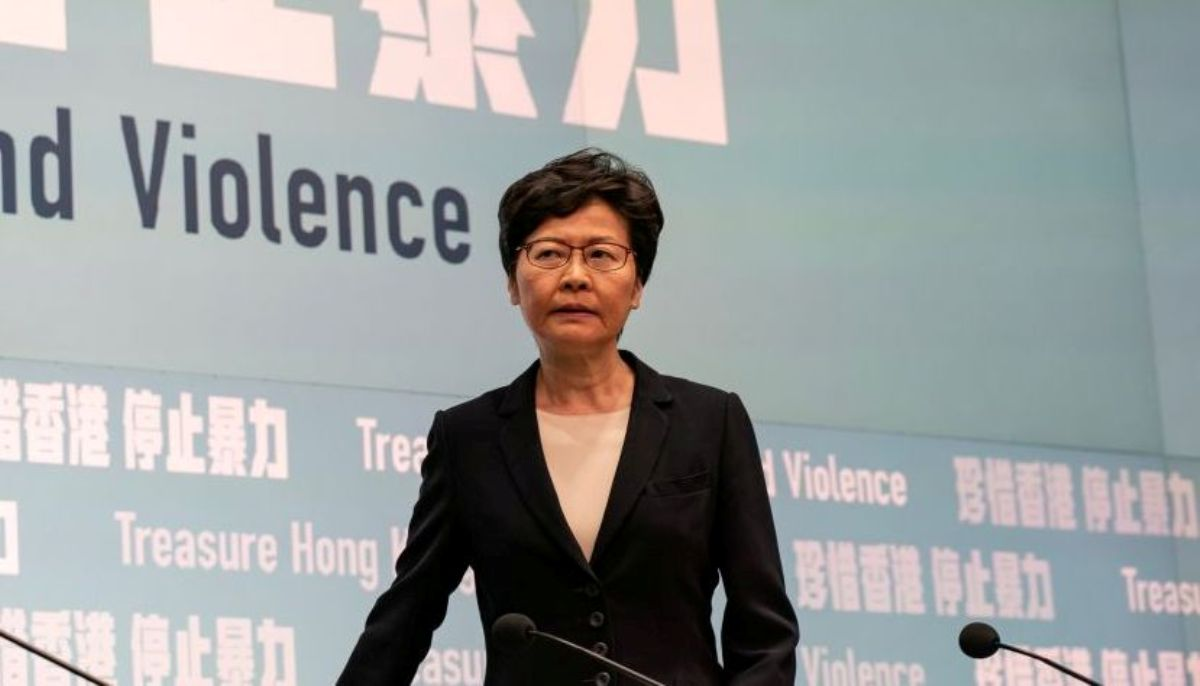 香港政府現任特首林鄭月娥。(Anthony Kwan/Getty Images)