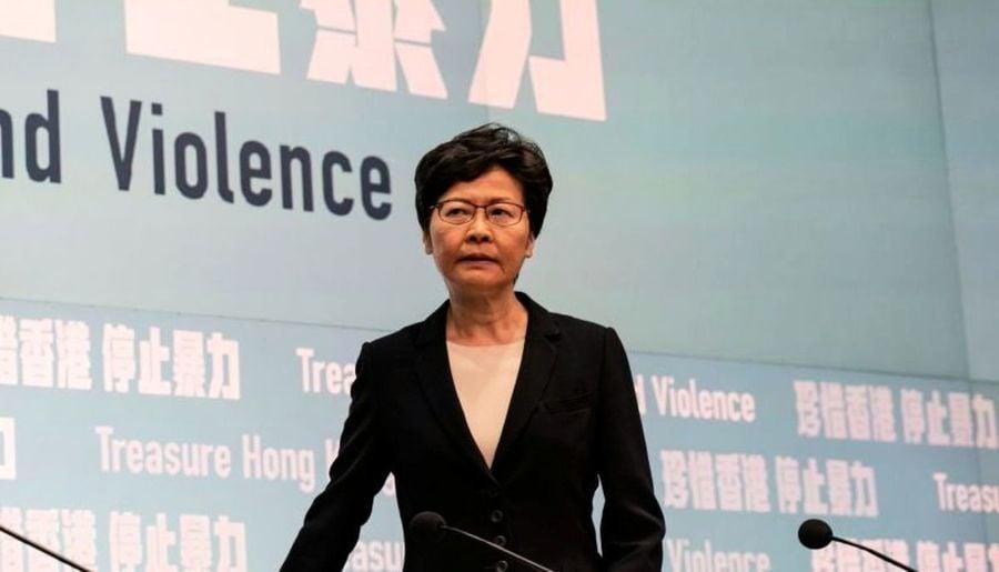 林鄭暫停動用《緊急法》 威脅不排除請北京干預