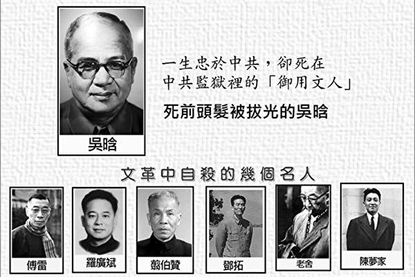 一生忠於中共,却死在中共監獄裏的「御用文人」吴晗。 (網絡圖片)