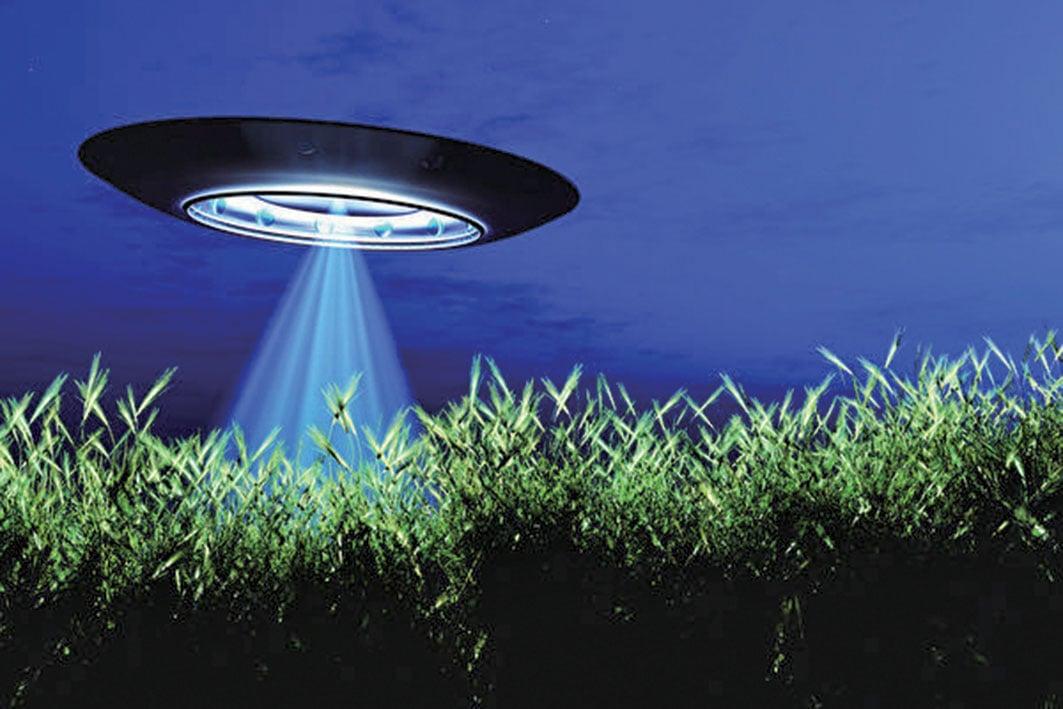 UFO來到地球的藝術圖。(fotolia)