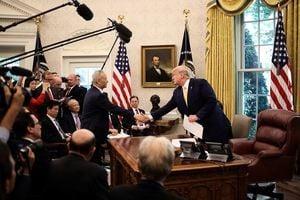 特朗普稱協議包括執行條款 萊特希澤做簡介