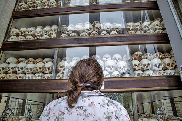 柬埔寨金邊瓊邑克殺戮場(萬人塚),柬埔寨紅色高棉政權在其統治的1975年至1979年間在這裏處死了大約17,000人。(Getty Images)