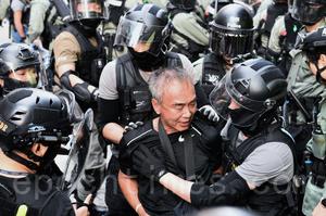 旺角警察盤查 追趕抗爭市民 銀髮老人被拘捕