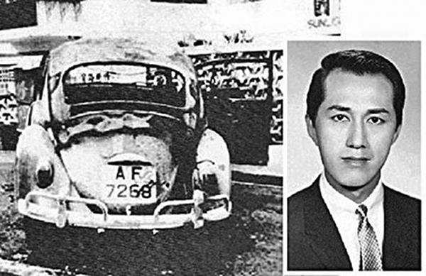 37歲的年輕香港商台主持林彬,因為在電台節目中抨擊左派「暴徒」,8月和堂弟在私家車裏,遭兩名狂徒潑汽油活活燒死。(新唐人資料圖片)