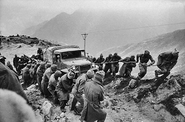 1962年中印戰爭中的印度士兵。(網絡圖片)