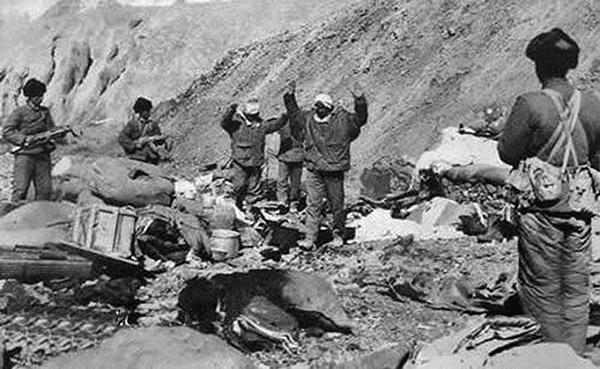 1962年中印戰爭中被中方俘虜的印度士兵。(網絡圖片)