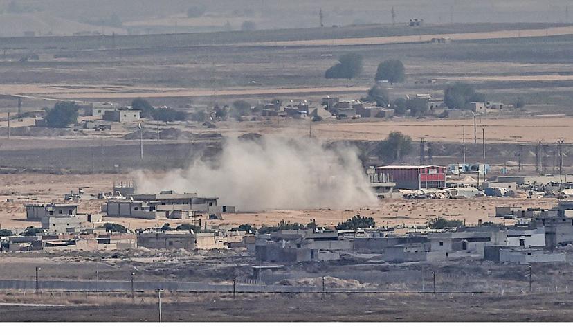 10月11日,土耳其第三天對敘利亞北部發動軍事進攻。(AFP)