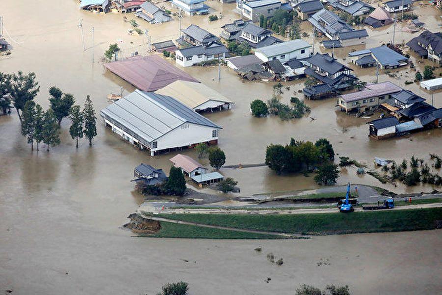 日本遭60年來最強颱風襲擊,造成數十人死亡,上百人受傷。(JIJI PRESS/JIJI PRESS/AFP)
