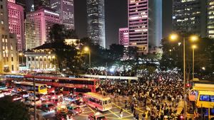 香港市民不屈不饒 中環遮打花園集會爭自由