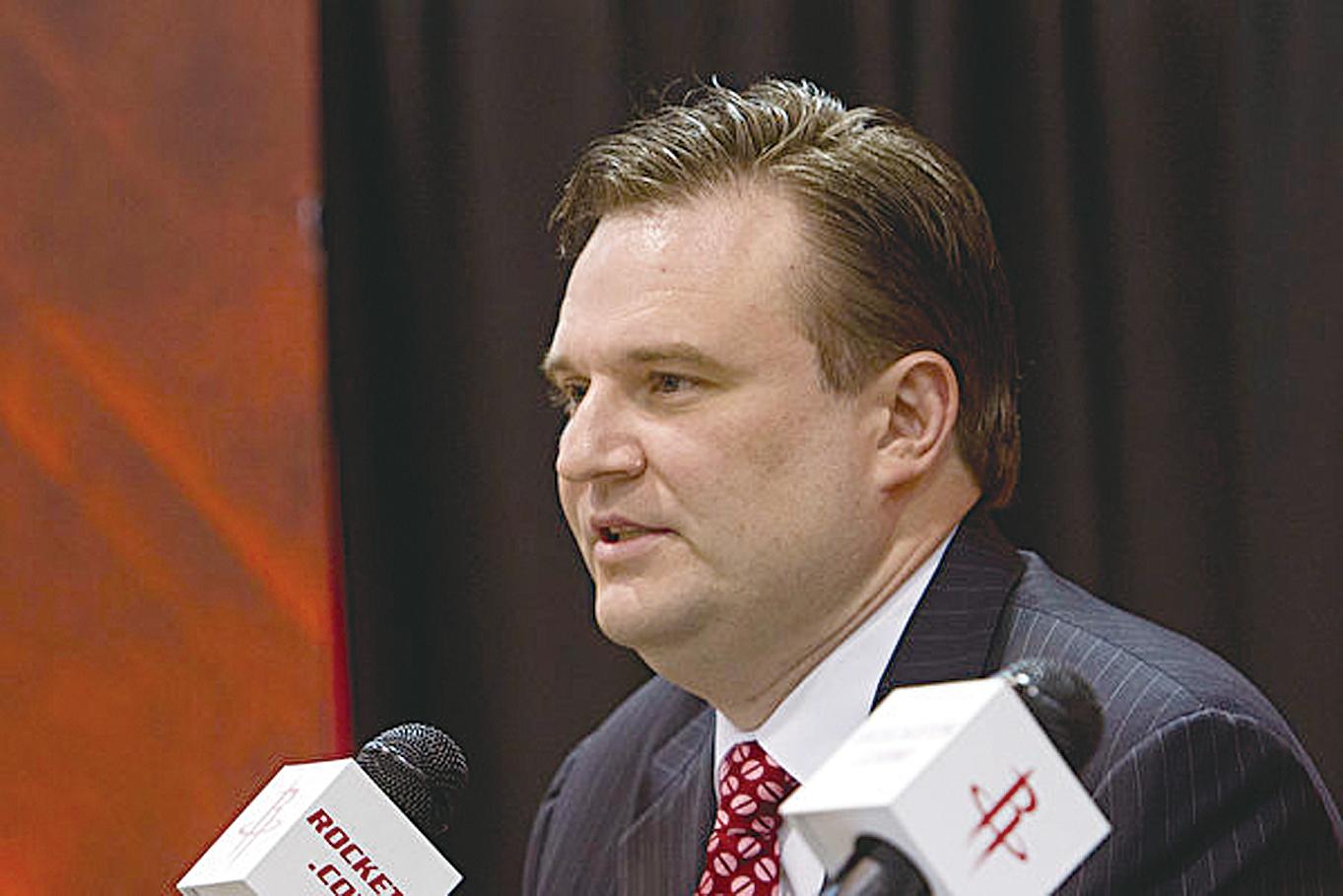 圖為火箭隊的總經理莫雷。(Bob Levey/Getty Images)
