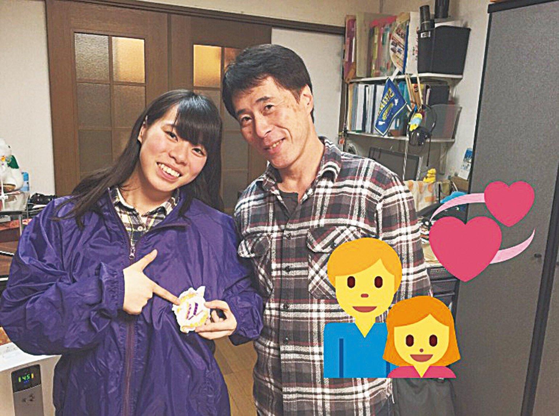 小綠和爸爸大津。(Twitter @pikatiro3)
