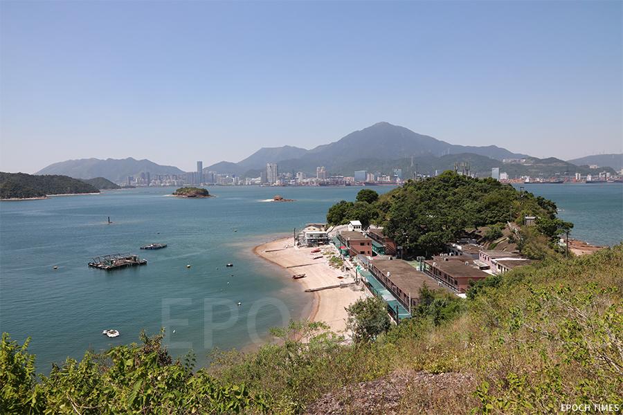 位於香港東北水域的偏遠小島鴨洲。(陳仲明/大紀元)