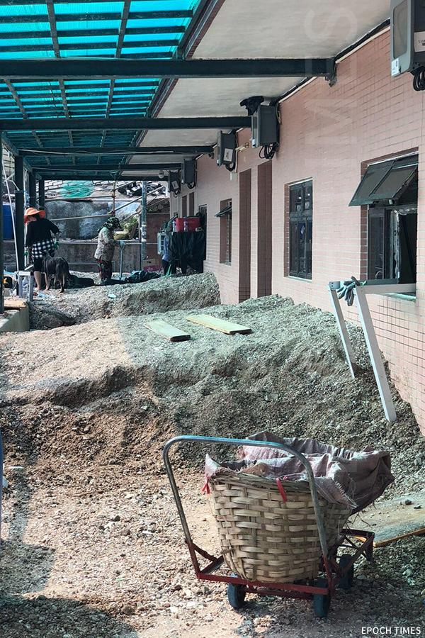 鴨洲遭受「山竹」風災後情況,陳啟昇形容像建築地盤一樣。(受訪者提供)