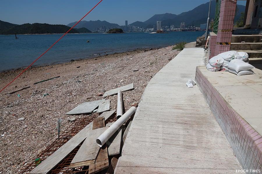 經歷風災後鴨洲漁民村一年後的修復情況。(陳仲明/大紀元)