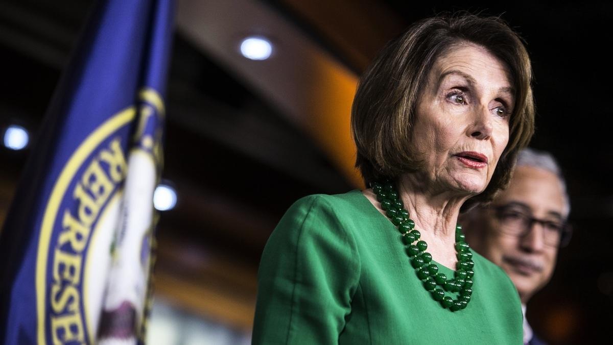 美國眾議院議長佩洛西(Nancy Pelosi)。(Zach Gibson/Getty Images)