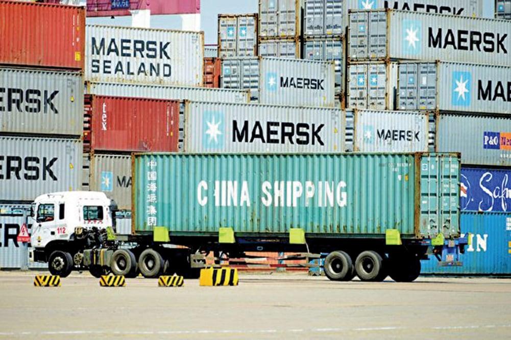 數據顯示,9月單月進出口總額3,966億美元,同比下滑5.7%。相較於去年9月,整整跌掉20個百分點。(AFP)