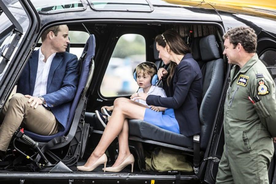 喬治小王子體驗飛行展 搶鏡指數爆表