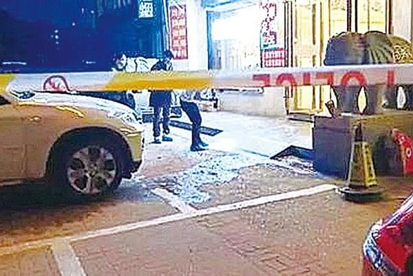 4月23日,湖南嶽陽縣前政府辦副主任姚海洋,在修腳店被殺。圖為案發現場。(網絡圖片)