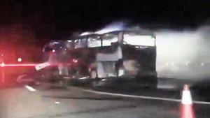 沙特巴士車禍 釀35死4傷